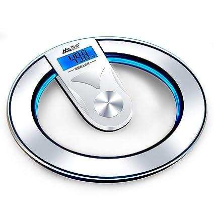 WWeiweian Escala electrónica Redonda báscula electrónica báscula de Peso halo báscula Inteligente
