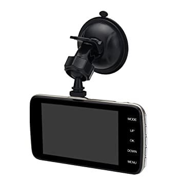 VORCOOL 1080P Camara para Coche HD 170°Ángulo Cámara para Coche Gran angular G-