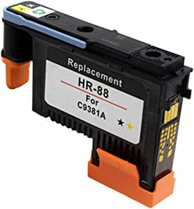 HOTCOLOR 1 Pack Black/Yellow C9381A 88 Printhead Compatible for K550 K8600 L7480 L7550 L7590 Printer