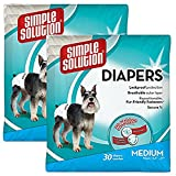 Simple Solution Disposable Medium Dog Diapers, 30 count (2 Pack)
