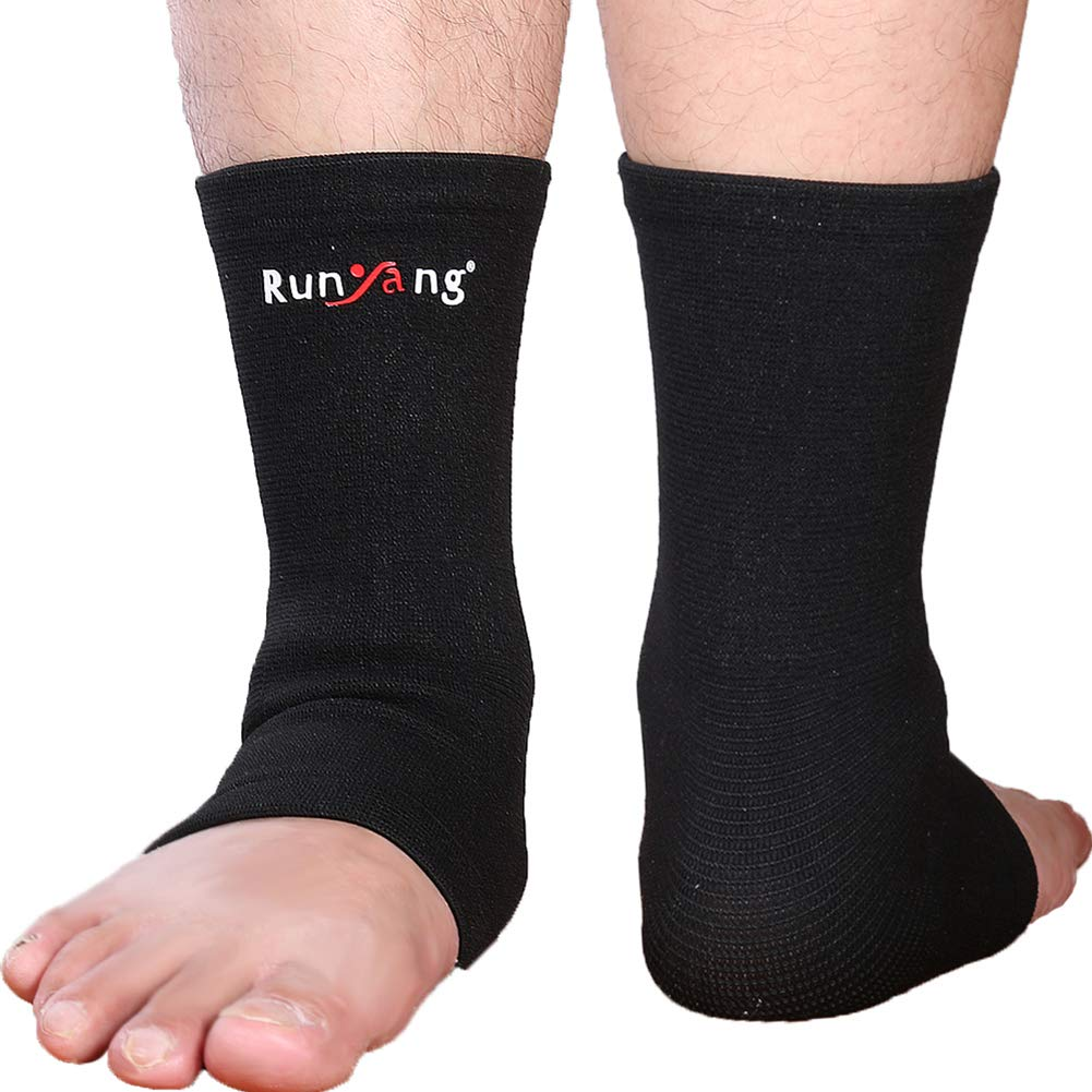Alamana 1Pc Ankle Bracer Breathable Elastic Ankle Brace Anti Sprained Protective Pad Guard S