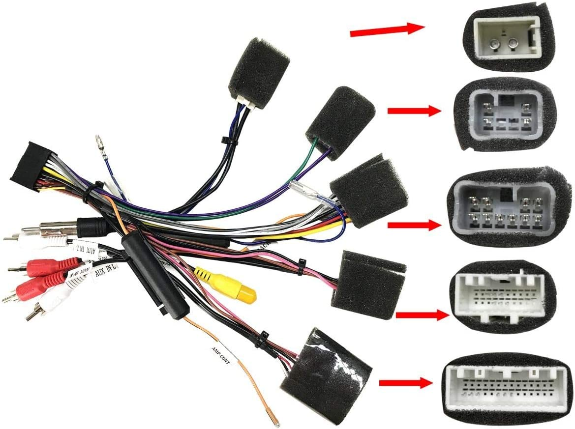 Amazon.com: JOYING Universal Wiring Harness Cable for in Dash Android Head  Unit Special for Joying car Radio. (for Toyota Hilux/Toyota Universal/Toyota  Highlander Without Canbus & Amplifier): Home Audio & TheaterAmazon.com