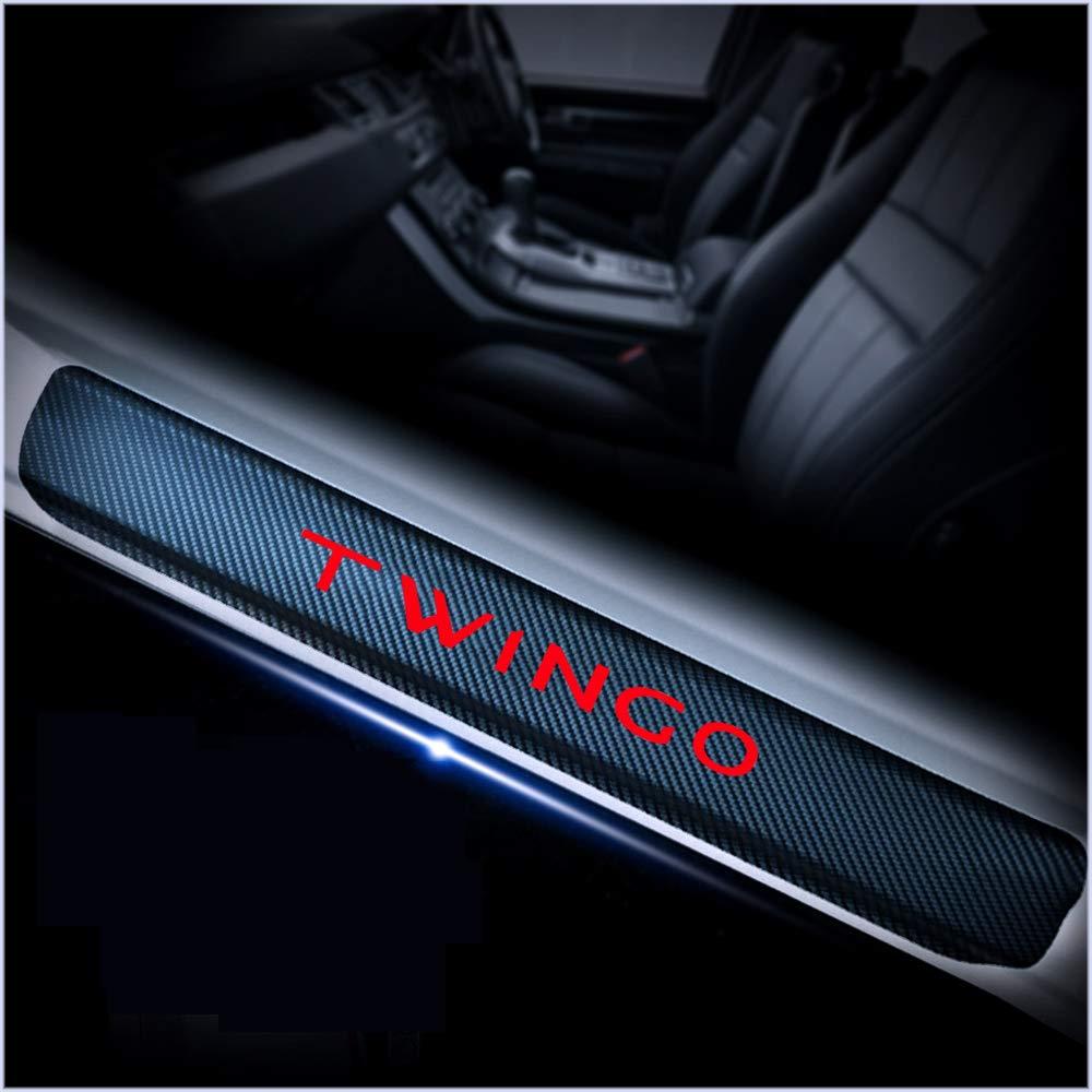 per Renault TWINGO Gnnlor Auto Soglia battitacco Soglia Porta Auto Pedali Adesivi per battitacco sul davanzale della portiera dellauto 4 Pezzi