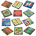 Magnetic Games Set -12 Different Magnetic Games, Road Trip Travel Car & Airplane Game Set Includes Classics, Chess, Checkers, Tic-tac-Toe, Backgammon, Ludo, Chinese Checkers, Ladders Solitaire