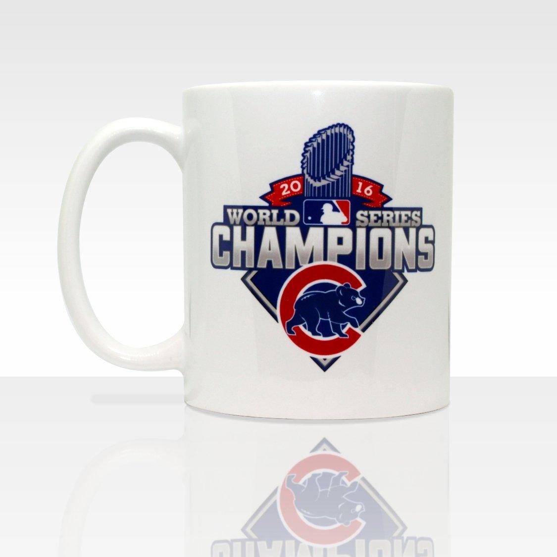 Amazon.com  Chicago Cubs World Series Champions 2016 11oz Ceramic Coffee Mug   Kitchen   Dining 4e70caa3d059