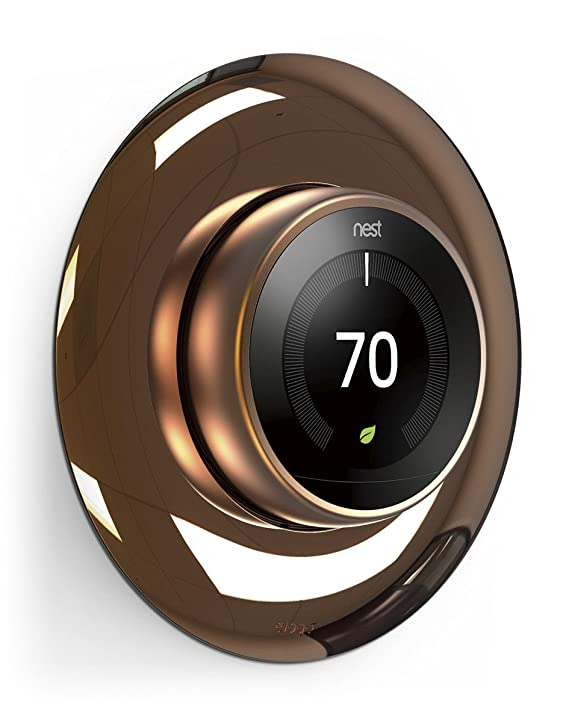 elago Wall Plate Cover for Nest Learning Thermostat [Chrome Bronze] - [Double Coated][UV Resistant][Hard ABS Material][Easy Installation] - for 1st, 2nd, ...