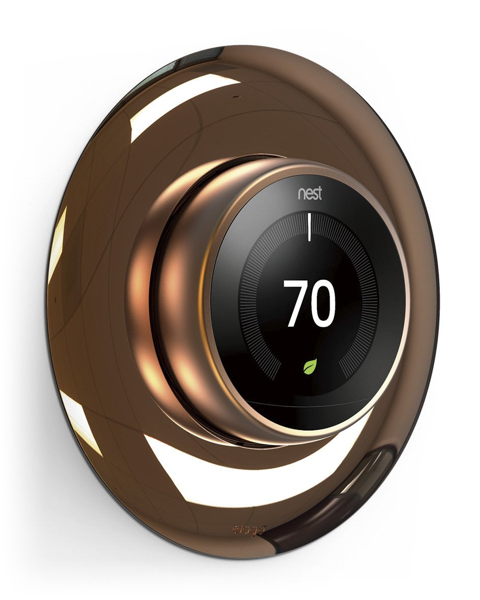 elago Wall Plate Cover for Nest Learning Thermostat [Chrome Bronze] - [Double Coated][UV Resistant][Hard ABS Material][Easy Installation] - for 1st, 2nd, 3rd generation by elago