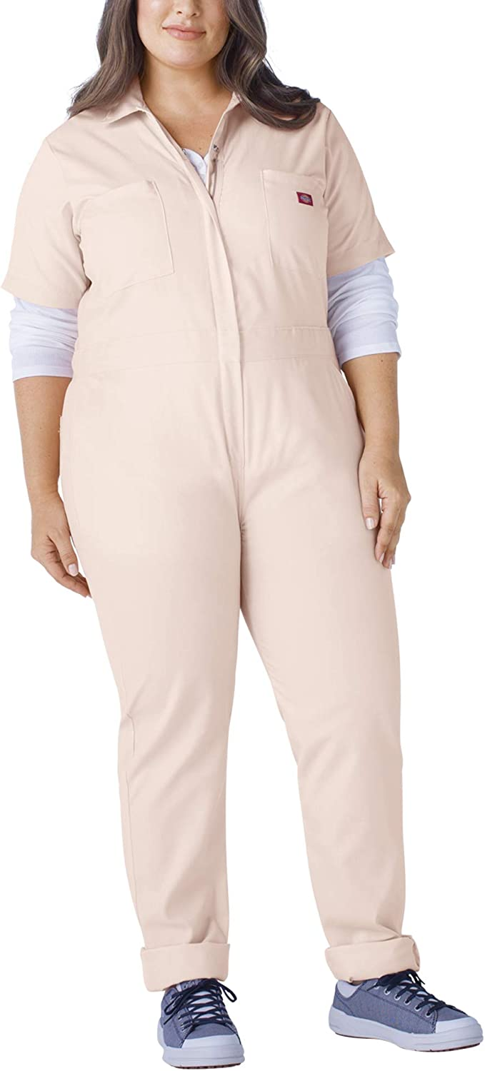 Lotus Pink 1PS Dickies Womens Plus Size Flex Short Sleeve Coverall