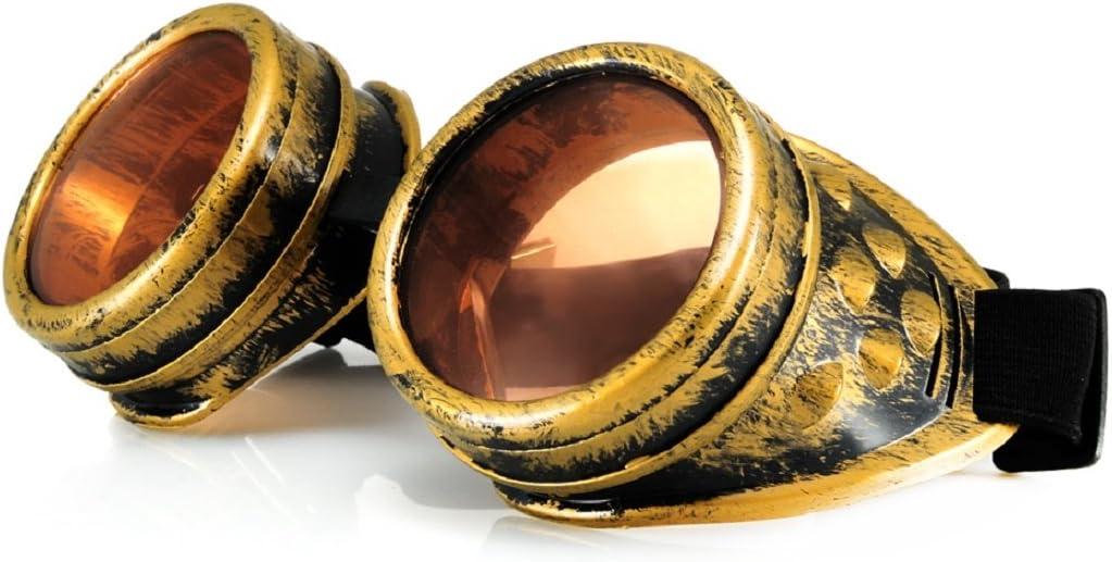 4sold Steampunk, Oro Antiguo, Cobre, Gafas Transparentes Vintage