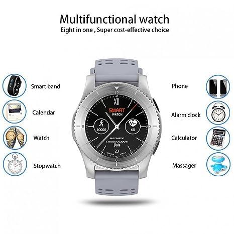 Sport reloj inteligente bluetooth frecuencia cardíaca Sensor de presión sanguínea con soporte GPS SIM Card Muñequera
