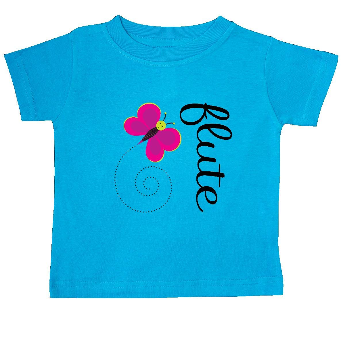 inktastic Cute Flute Player Butterfly Baby T-Shirt