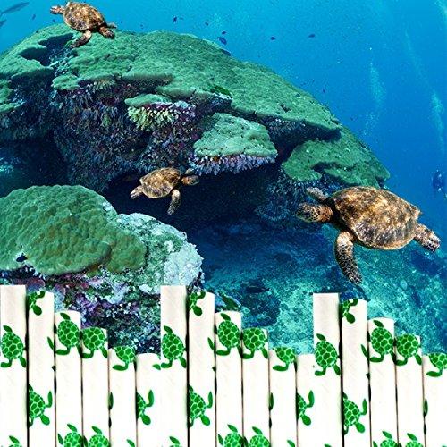 Trinkhalm aus Papier See Schildkröte