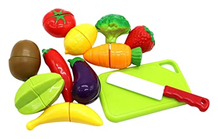 amazon com little treasures kids play cutting fruits and vegies toy