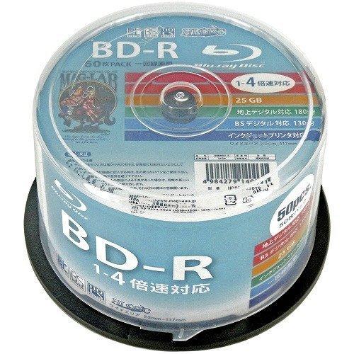 50 Hi-Disc Blu Ray 25 Gb Bd-r Single Layer 4x Speed No Logo Fully Printable Original Spindle Blueray