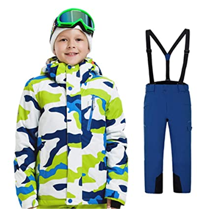 adea9ab3a Snow Suit Sets Snowboarding Clothing Boy and Girl Children's Windproof  Waterproof Outdoor Clothing Kids Ski Jacket