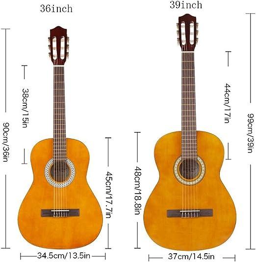 Strong Wind Guitarra clásica acústica 4/4 tamaño completo,con ...