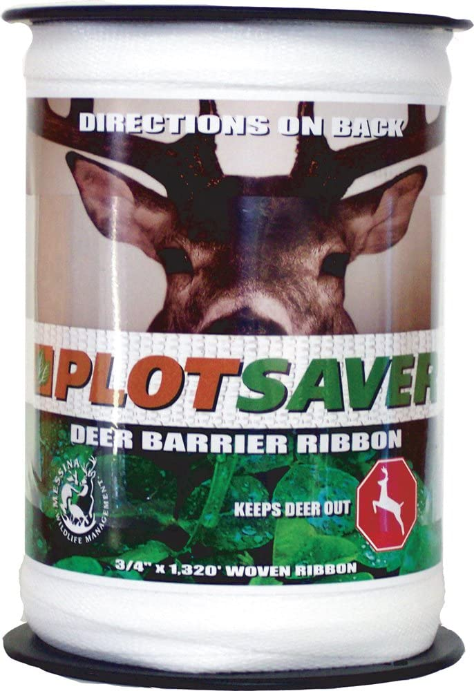 Messina Wildlife RBW-132 3/4-Inch by 1320-Foot Deer Repellent White Ribbon