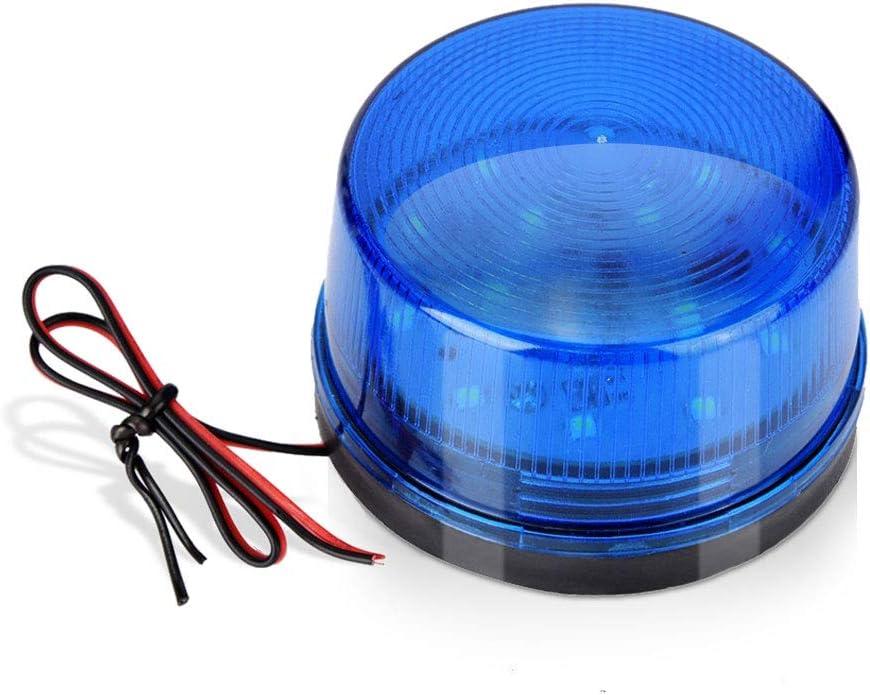 Luz de Advertencia de Emergencia, Luz de Luz Estroboscópica de Alarma de Emergencia Led Azul 12v, Silencioso, Alto Brillo