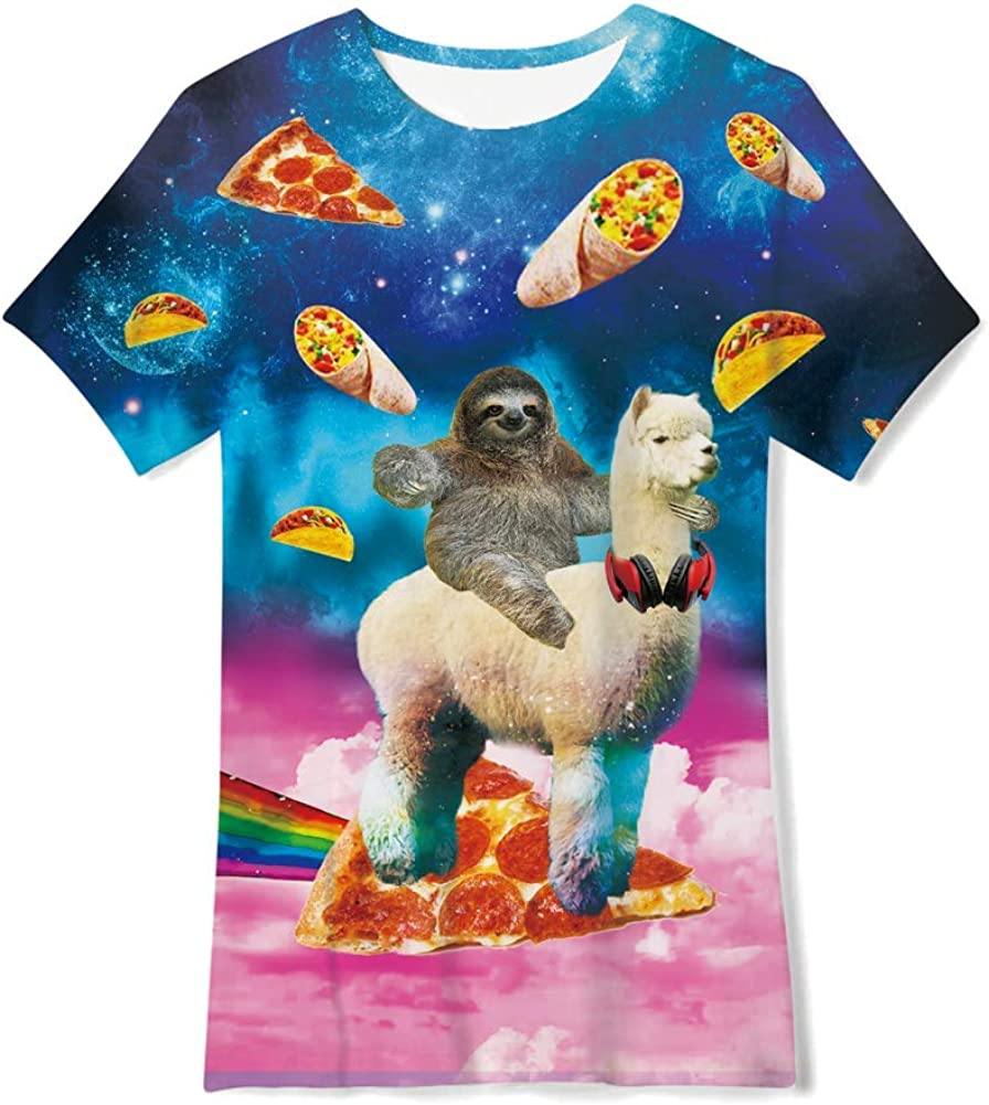 T-Shirt Mexico Your Location Here 3D Print Short Sleeve Top Tees for Boys Girls Funny Novelty