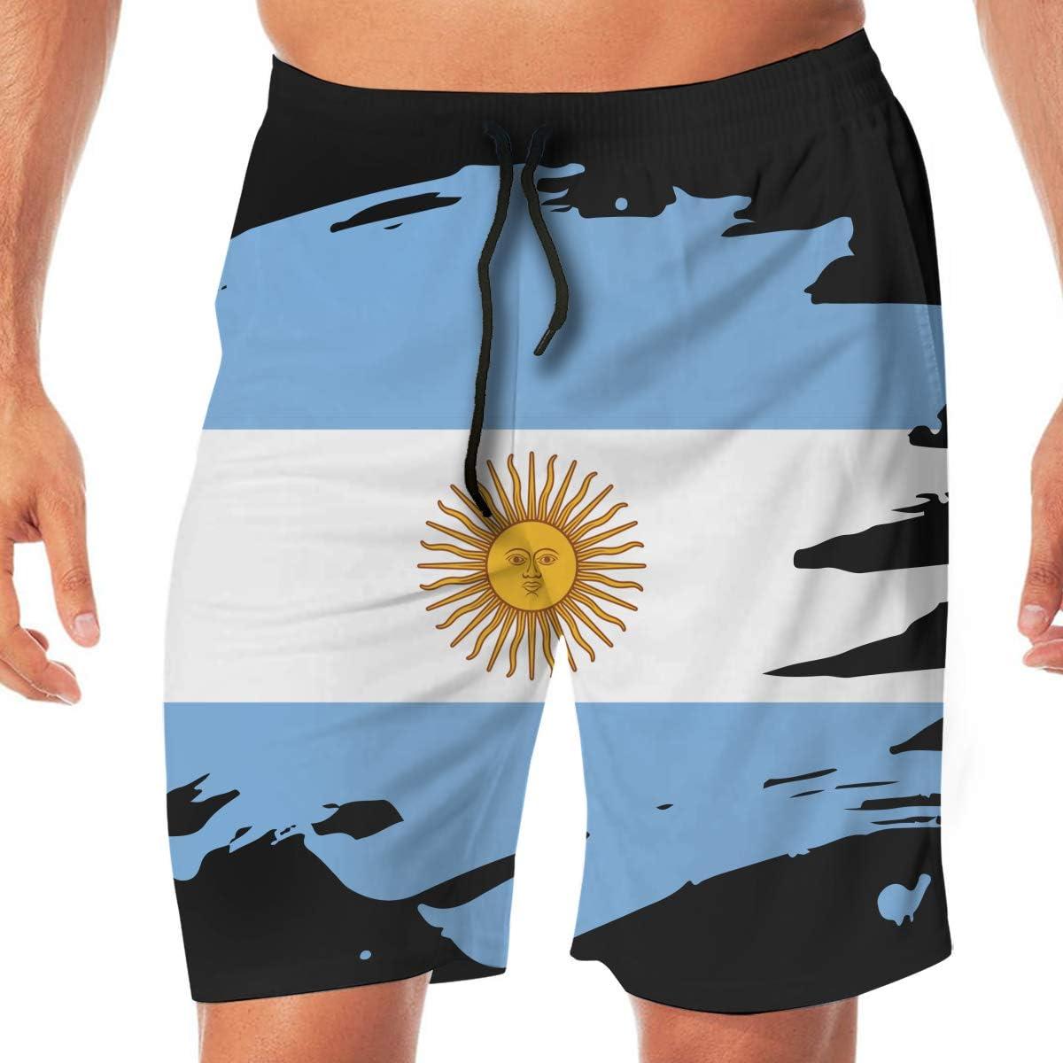 Mens Argentina Paint Splatter Flag Board Shorts Swim Trunks No Mesh Lining