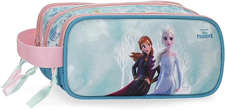 Estuche Frozen Find Your Strenght Triple Cremallera, Azul, 22x10x9 cms: Amazon.es: Equipaje
