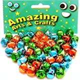 Jingle Bells 15 mm assorted colours 48 bells by Amazing Arts and Crafts by Amazing Arts and Crafts