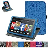 "Mama Mouth 360 Degree Rotary Stand with Cute Cover for 7"" Amazon Fire 7 Android Tablet 5th Generation 2015 Release"