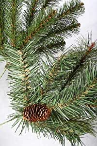 6 Artificial Assorted Pine Sprays 18 Inch Long Stems for Christmas and Holiday Decorating