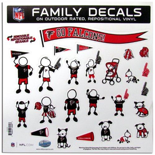 NFL Atlanta Falcons Large Family Decal (Falcon Stickers)