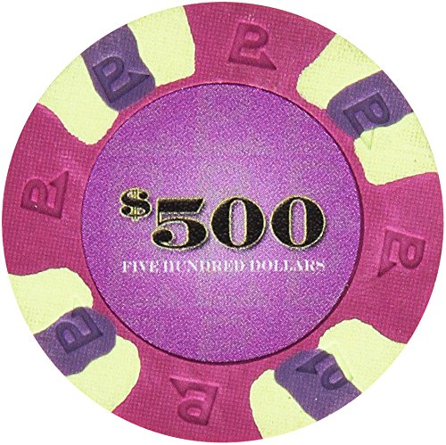 Vegas 100 Nexgen Edge Las - Trademark Poker NexGEN 6000 Series PRO Classic Style Poker Chips (Set of 100), 9gm, Purple