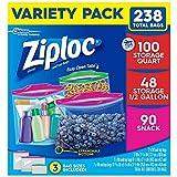 ziploc half gallon bags - Ziploc Bags Variety Pack (238 ct.)