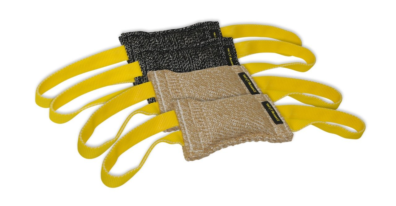 Dean & Tyler Bundle of 4 Tugs for Pets, 2-Jute and 2-French Linen, 8-Inch by 4-Inch
