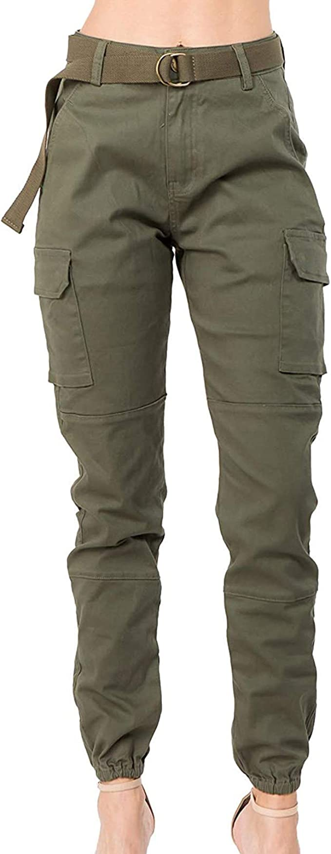 Women Cargo Skinny Tracksuit Bottoms Military Army Combat Trousers Joggers Pants