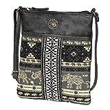 Grey Mini Boho Gypsy Crossbody Bag – Ethnic Vegan Leather Traveling Handbag