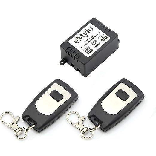 55 opinioni per eMylo® AC 220V 1000W 1 Canale RF Remote Control interruttore trasmettitore relè