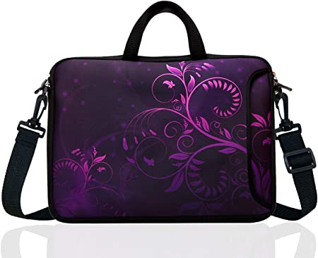 Laptop Bag 15.6 Inch Laptop Sleeve Case with Shoulder Straps /& Handle//Notebook Computer Case Briefcase Compatible with MacBook//Acer//Asus//Hp Poker Skull Hearts Card Black