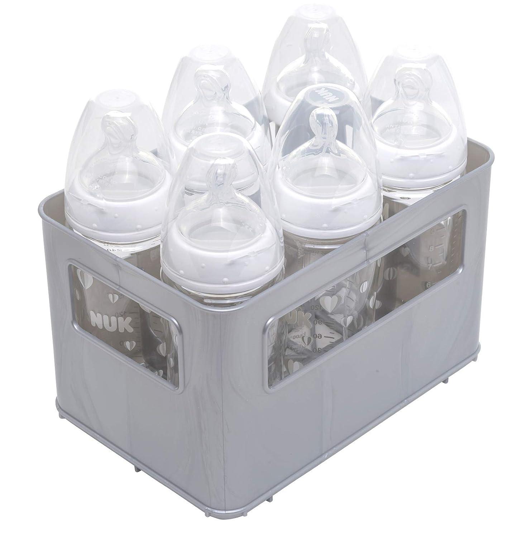 Rotho Babydesign 30036 0070 Flaschenbox silber