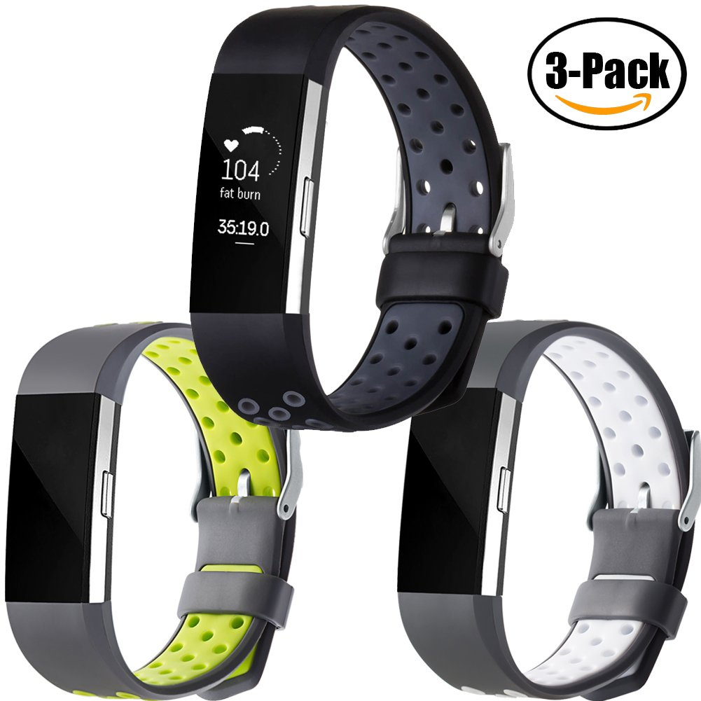 Geak Fitbit Charge 2バンド、Special Edition交換用バンドfor Fitbit charge2 Large Small 12異なる色 B0779779WL Large #3 Sports #3 Sports Large
