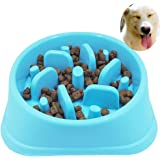 Sankill Slow Pet Fun Feeder Bloat Stop Non Skid Dog Food Bowl Puzzle Cat Bowl