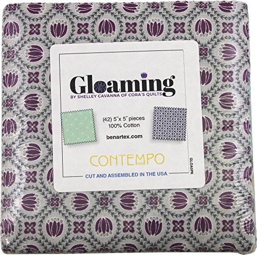 (Shelley Cavanna Gloaming 5X5 Pack 42 5-inch Squares Charm Pack Benartex)