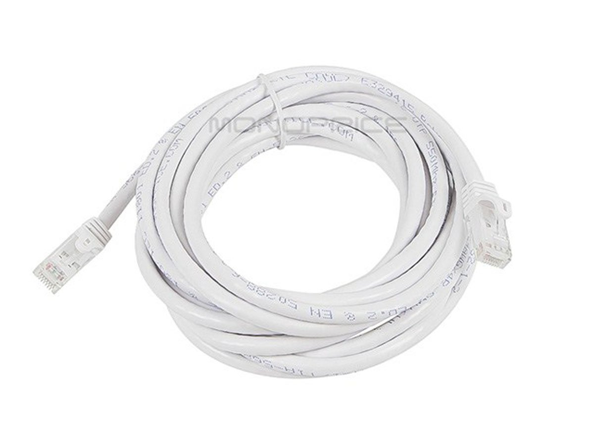 Blue Monoprice Flexboot Cat6 Ethernet Patch Cable RJ45 Network Internet Cord Pure Bare Copper Wire 550Mhz UTP Stranded 2ft 24AWG