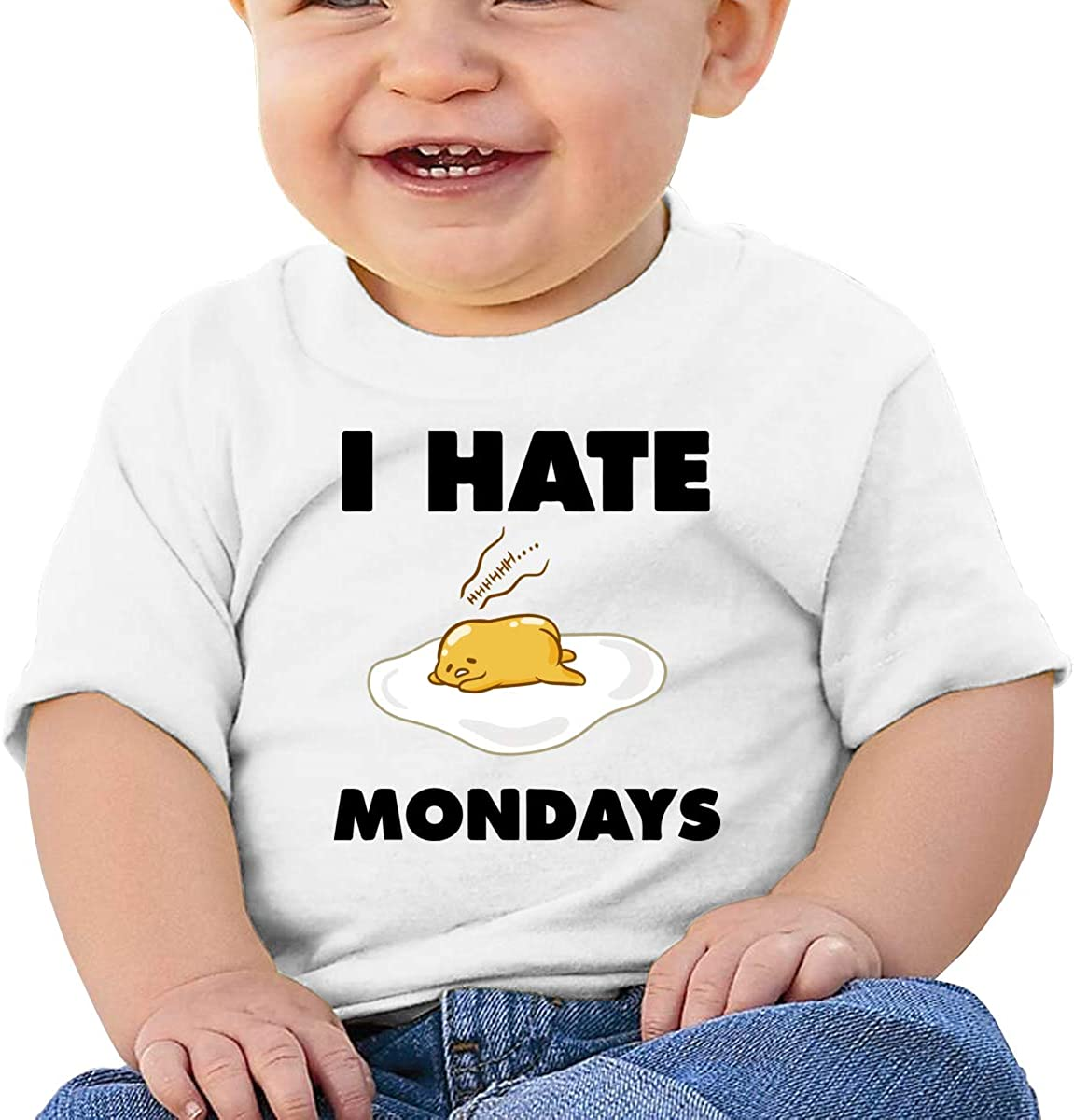 Kangtians Baby I Hate Mondays Lazy Egg Short Sleeve Shirt Toddler Tee
