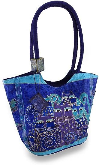 Indigo Cats Laurel Burch Bag 11 by 3 by 8-Inch