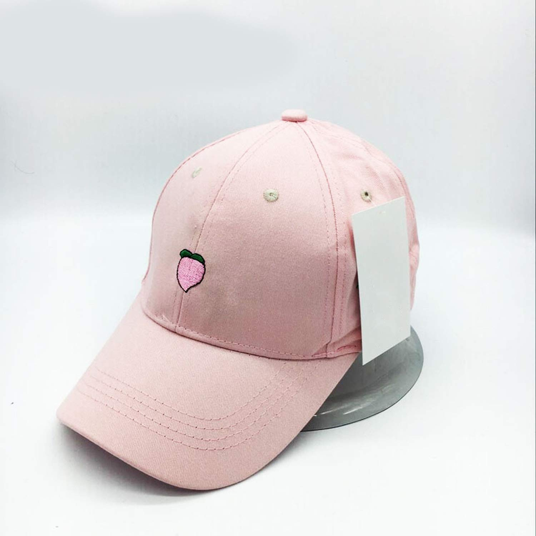 XuanHan Leisure Fresh Fruit Embroidery Hat Strawberry Banana Cherry Orange Peach Baseball Cap for Women