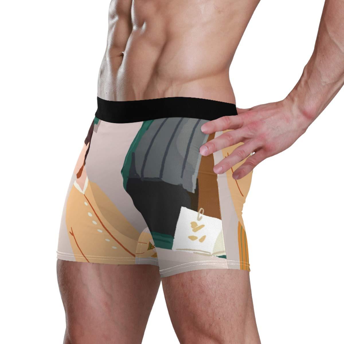 White Collar Vipsk Seamless Stretch Mens Polyester Boxer Briefs Underwear 1-Pack Set