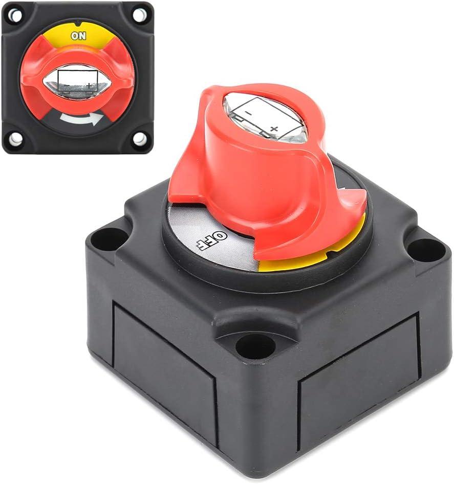 12V 300A Batterietrennschalter Hochstrom-Drehschalter Geeignet f/ür Auto RV Marine Yacht Batterieschalter