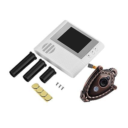 Zerone - Cámara de vigilancia para puerta de vídeo, pantalla HD de 2,8