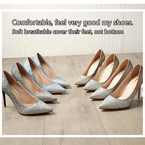 Color Options Toe Elegant 4 Dress Sexy Women's Silvery Pointed BERTERI Pump xq8PIz