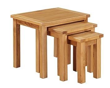 The One Metro in rovere, set di 3 tavoli - Set di 3 tavolini ...