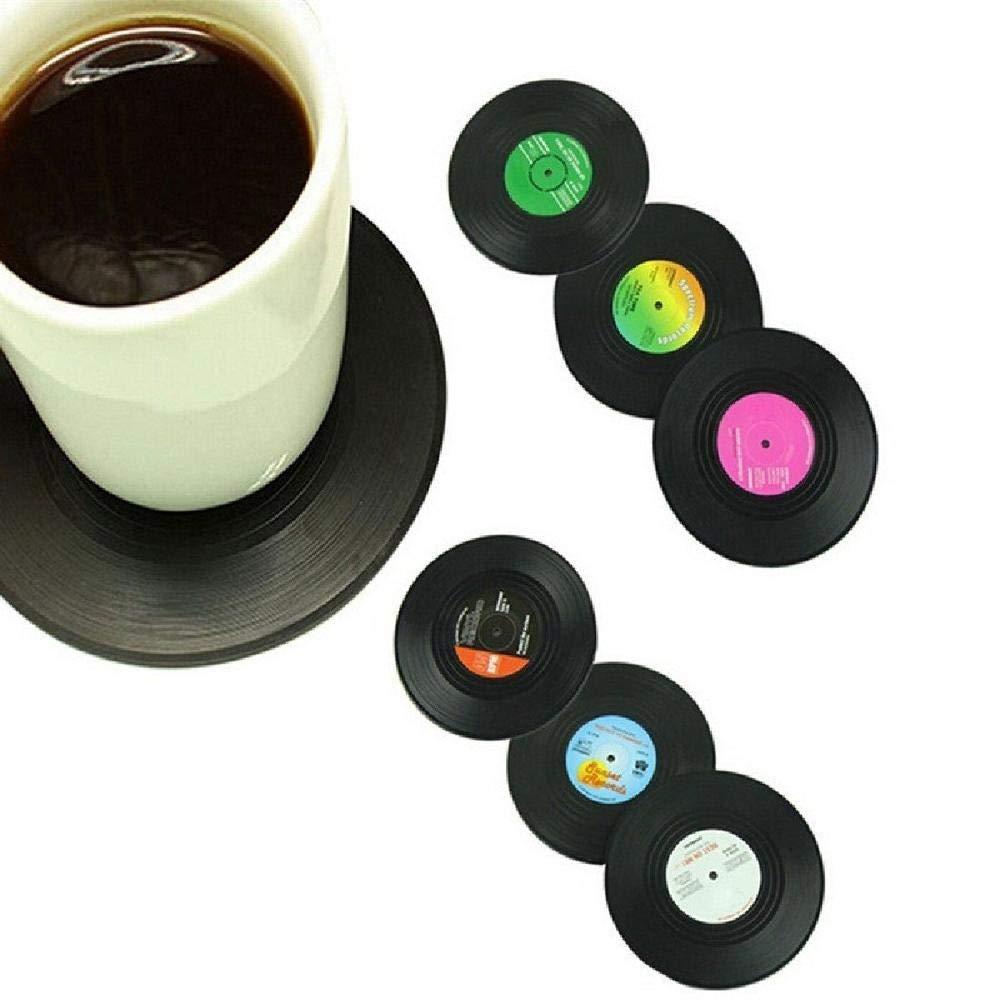 Posavasos Redondos para Bebidas para t/é y caf/é de Cristal Juego de manteles Individuales con Bordado Chino Grande Uteruik